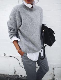 Réveiller un camaïeu de gris avec une chemise blanche lumineuse