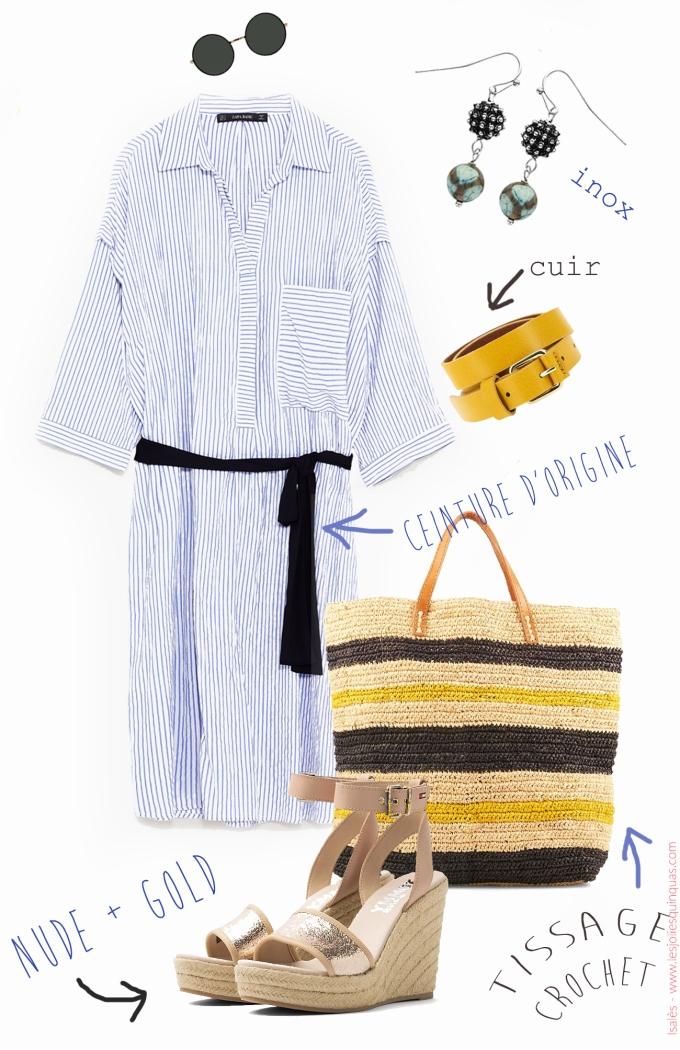 Isalès - Look d'été en robe chemise