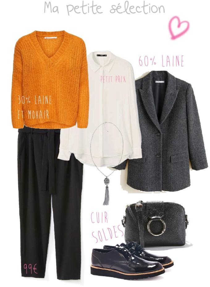 Look d'automne avec un pantalon noir