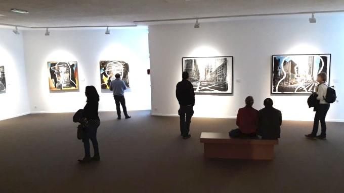 """Vue d'ensemble de la salle d'exposition, CharlElie Couture - Expo """"Passages"""" à Sète Musée Paul Valéry"""