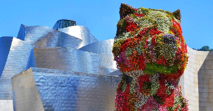 Bilbao Puppy by Jeff Koons