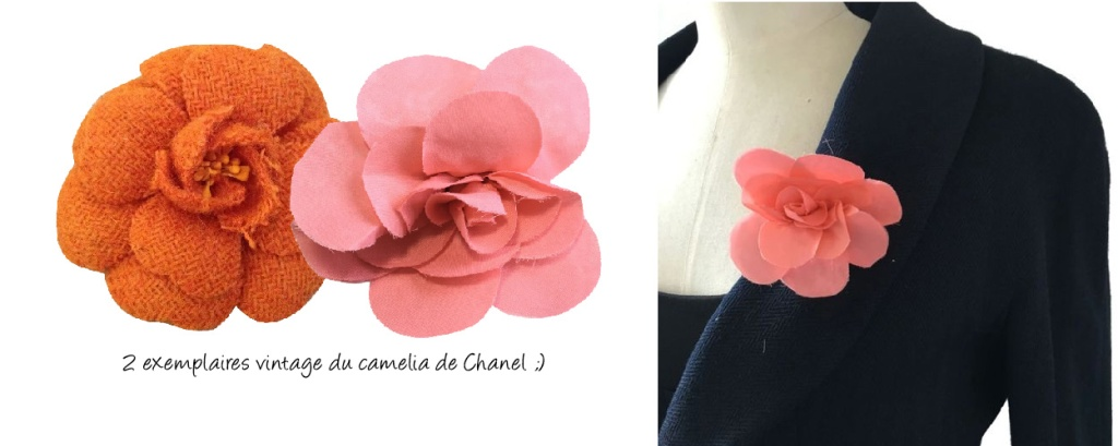 Broches vintage Camelia-Chanel