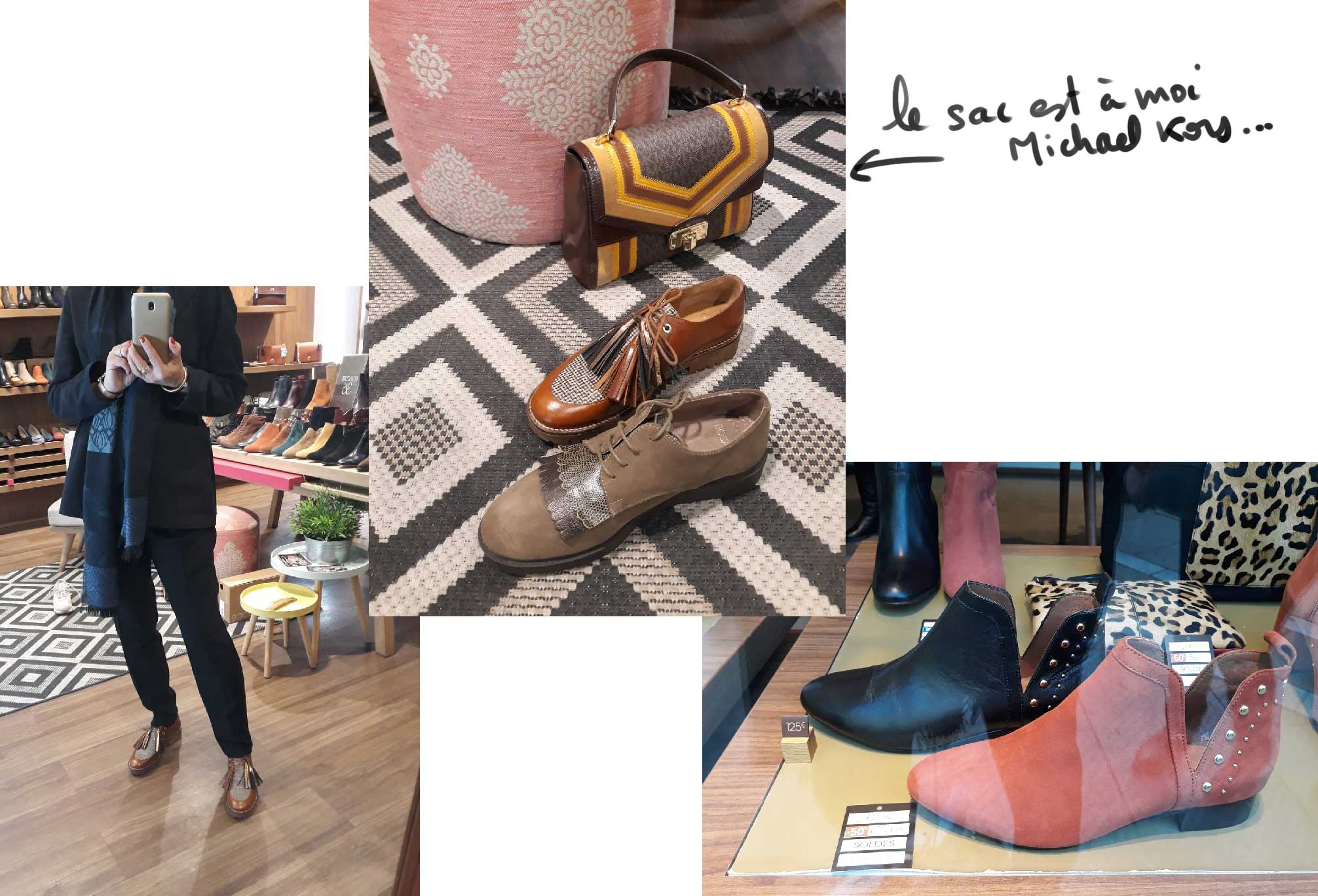 Mode quinqua, chaussures chez Bocage