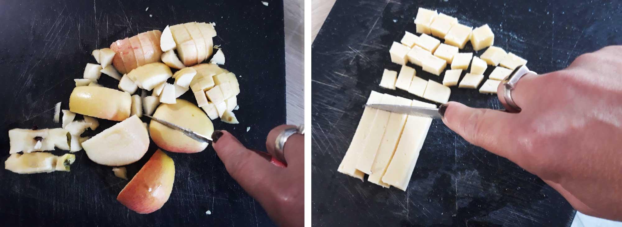 Couper-les-pommes-et-le-fromage