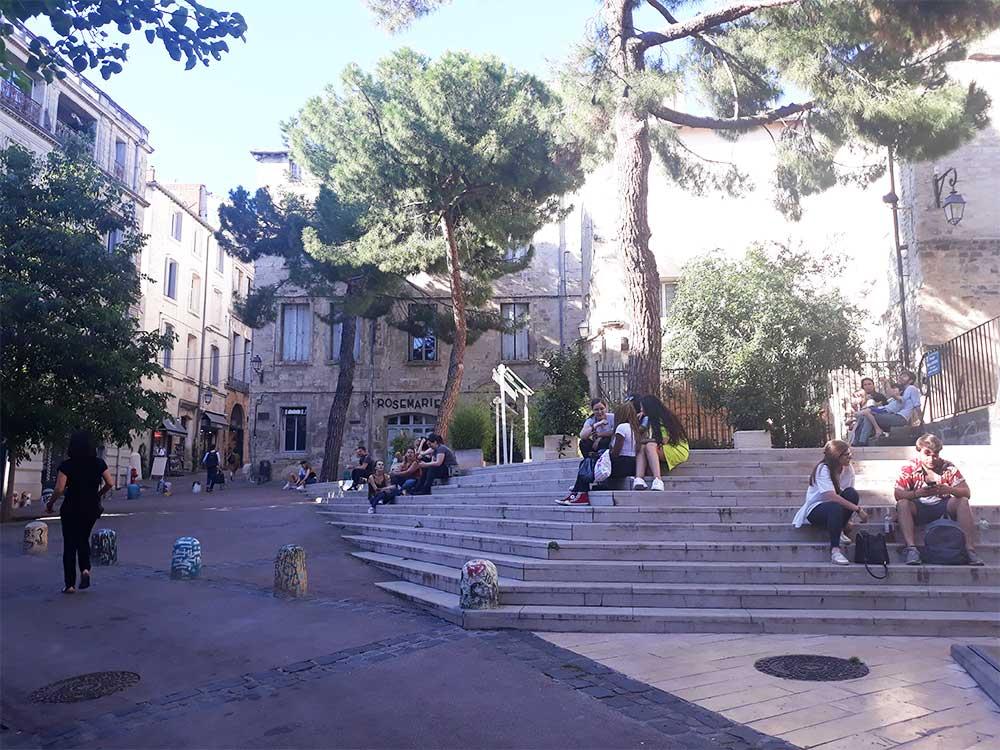 Place-Saint-Roch-déconfinée Montpellier