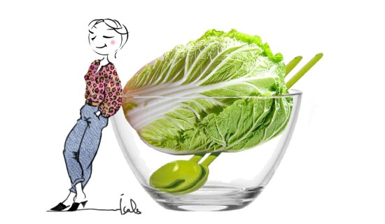 Salade craquante au chou chinois pe-tsaï