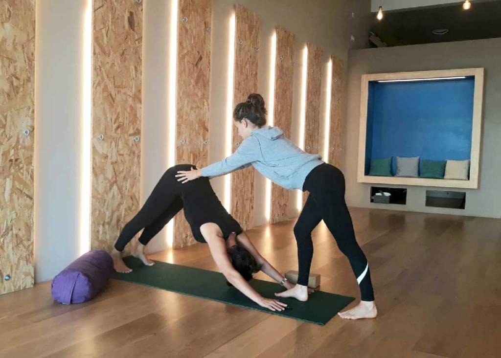 Séance-Yoga-sur-le-fil-Chien tête en bas-Les-Jolies-Quinquas-image3