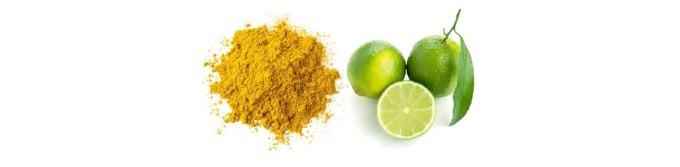 Poudre de curry et citron vert