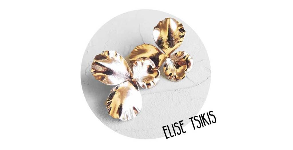 Elise-Tsikis-Boucles d'oreille Pensée