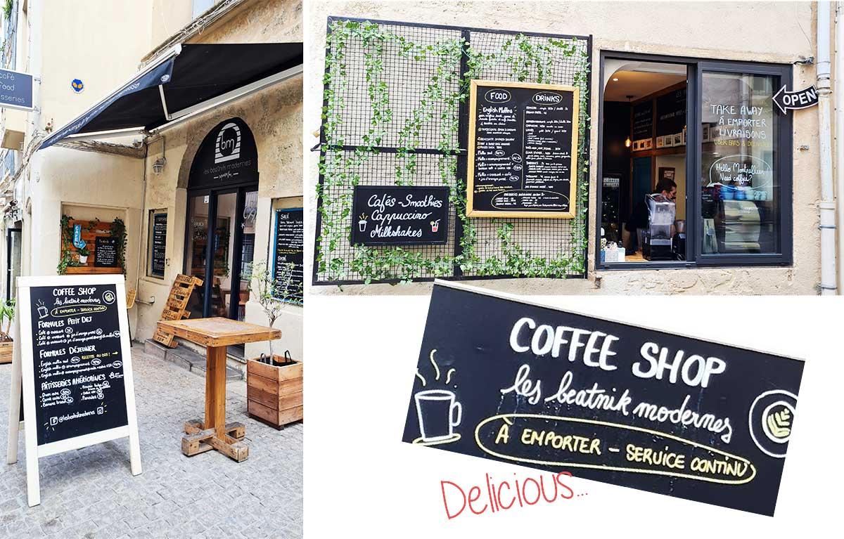 Les-Beatnik-Modernes Coffee shop Montpellier