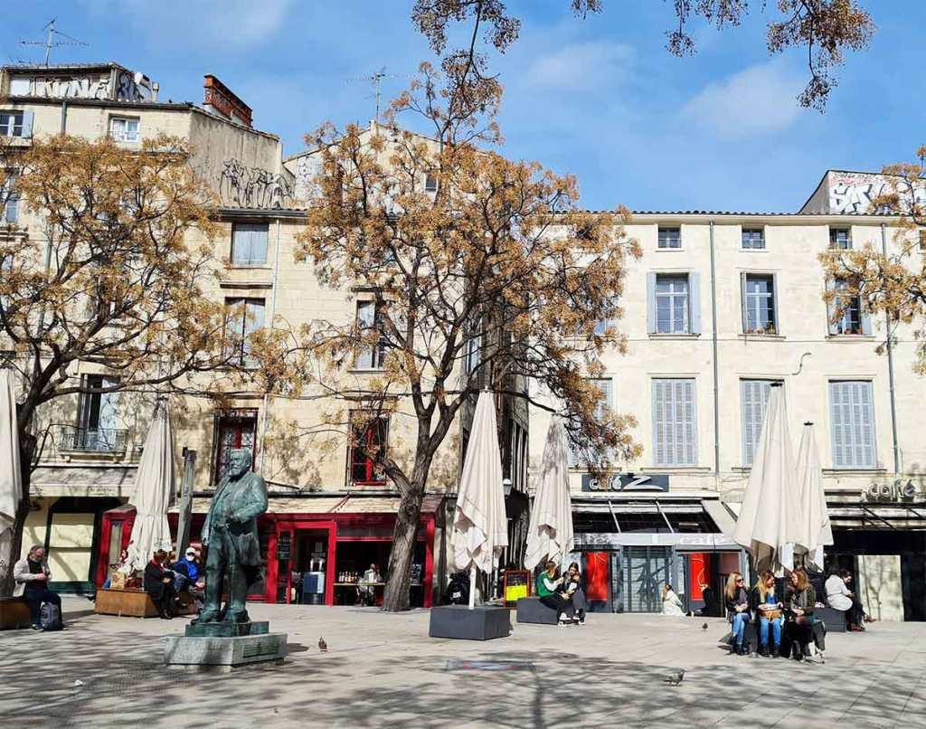 Montpellier mars 2021 place Jean Jaures